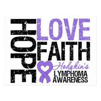Hodgkin's Lymphoma HOPE LOVE FAITH Postcard