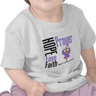 Hodgkins Lymphoma Hope Love Faith Prayer Cross T Shirts