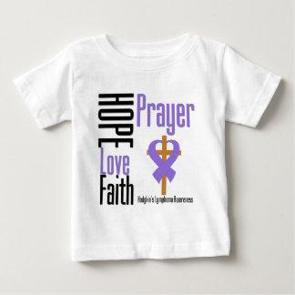 Hodgkins Lymphoma Hope Love Faith Prayer Cross Tshirt