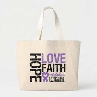 Hodgkin's Lymphoma HOPE LOVE FAITH Jumbo Tote Bag