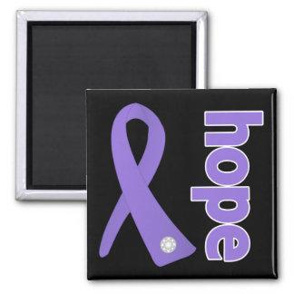 Hodgkins Lymphoma Hope Ribbon Square Magnet
