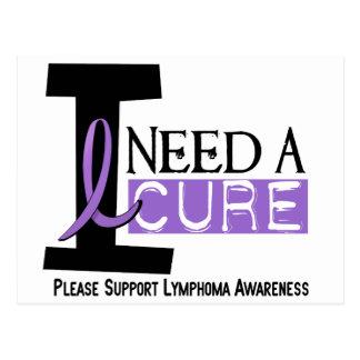 Hodgkin's Lymphoma I NEED A CURE 1 Postcard
