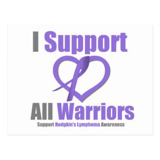 Hodgkin's Lymphoma I Support All Warriors Postcard