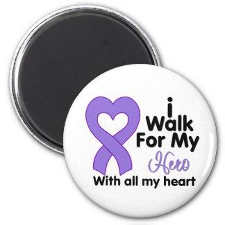 Hodgkin's Lymphoma I Walk For My Hero 6 Cm Round Magnet