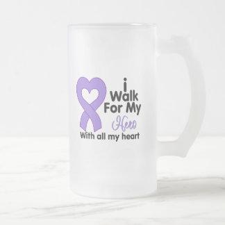 Hodgkin's Lymphoma I Walk For My Hero Mug