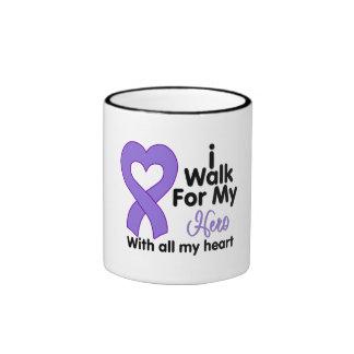 Hodgkin's Lymphoma I Walk For My Hero Coffee Mugs
