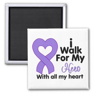 Hodgkin's Lymphoma I Walk For My Hero Square Magnet