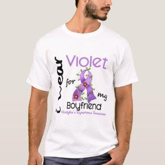 Hodgkins Lymphoma I Wear Violet For My Boyfriend 4 T-Shirt