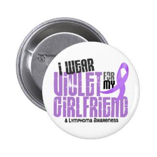 Hodgkins Lymphoma I Wear Violet For My Girlfriend 6 Cm Round Badge
