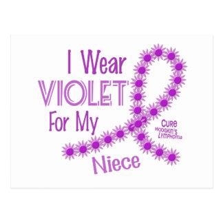 Hodgkins Lymphoma I Wear Violet For My Niece 26 Postcards