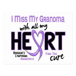 Hodgkins Lymphoma Miss With All My Heart Grandma Postcard