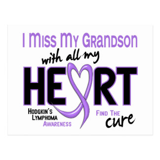 Hodgkins Lymphoma Miss With All My Heart Grandson Postcard