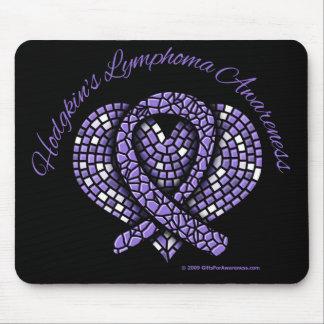 Hodgkins Lymphoma Mosaic Heart Ribbon Mouse Pad