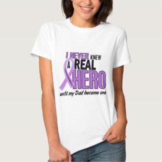 Hodgkins Lymphoma NEVER KNEW A HERO 2 Dad T-shirts
