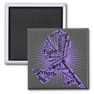 Hodgkins Lymphoma Powerful Ribbon Slogans Refrigerator Magnet
