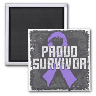 Hodgkins Lymphoma Proud Survivor Magnet