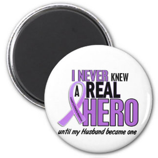 Hodgkins Lymphoma REAL HERO 2 Husband 6 Cm Round Magnet