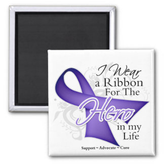 Hodgkins Lymphoma Ribbon Hero in My Life Fridge Magnets