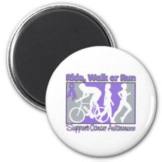 Hodgkin's Lymphoma Ride Walk Run 6 Cm Round Magnet