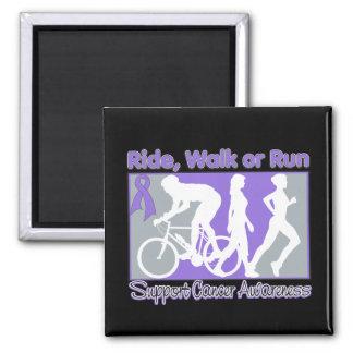 Hodgkin's Lymphoma Ride Walk Run Square Magnet