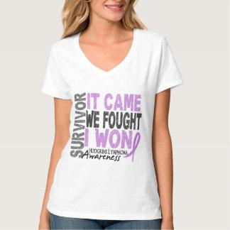 Hodgkins Lymphoma Survivor It Came We Fought I Won T-Shirt