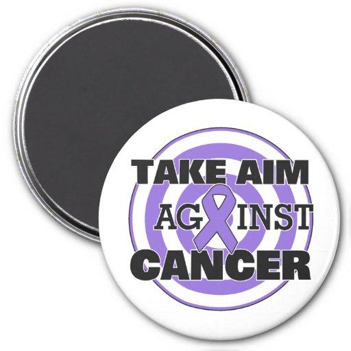 Hodgkin's Lymphoma Take Aim Against Cancer Refrigerator Magnet