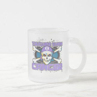 Hodgkin's Lymphoma Tougher Than Cancer Skull Frosted Glass Mug