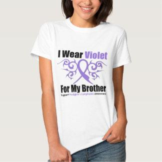 Hodgkins Lymphoma Tribal Ribbon For My Brother T Shirt