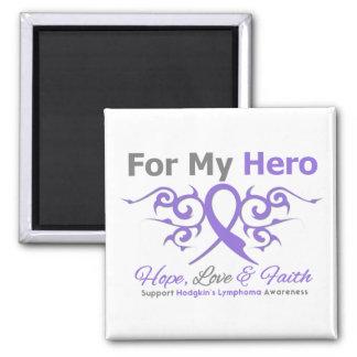 Hodgkins Lymphoma Tribal Ribbon Hero Square Magnet