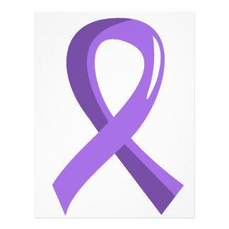 Hodgkin's Lymphoma Violet Ribbon 3 Custom Flyer