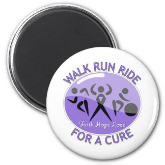 Hodgkin's Lymphoma Walk Run Ride For A Cure 6 Cm Round Magnet