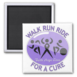 Hodgkin's Lymphoma Walk Run Ride For A Cure Square Magnet
