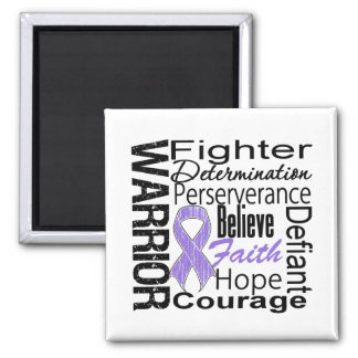 Hodgkins Lymphoma Warrior Collage Square Magnet