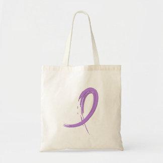 Hodgkin's Lymphoma's Violet Ribbon A4 Budget Tote Bag