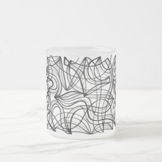 Hodgkinson Abstract Expression Black and White Frosted Glass Mug