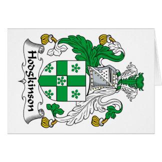 Hodgkinson Family Crest Greeting Card