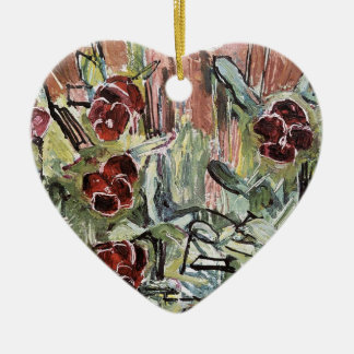 Hodler: Pansies, Art Christmas Ornament