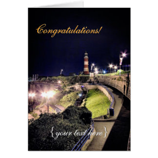 Hoe Approach and Smeaton's Tower - Congratulations Greeting Card