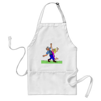 Hoe Down Square Dancers Apron