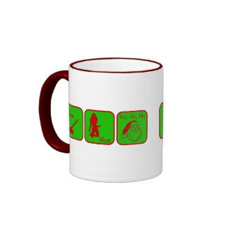Hoe, Hoe, Ho Ho Ho Ringer Mug