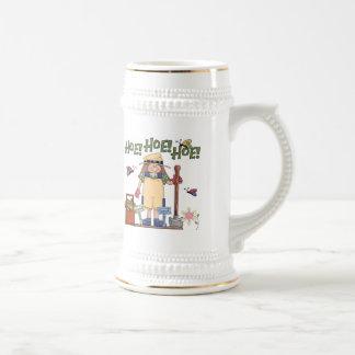 Hoe Hoe Hoe Gardening Beer Stein Coffee Mugs