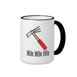 Hoe Hoe Hoe Ringer Coffee Mug