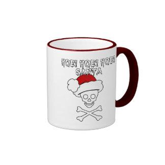 Hoe! Hoe! Hoe! Santa Ringer Mug