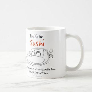Hoe to be a cat: Sushi Basic White Mug