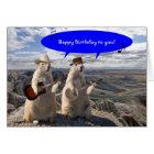 HOEDOWN IN PRAIRIE DOG TOWN BIRTHDAY CARD