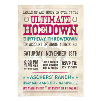 Hoedown Invitation