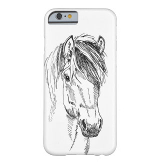 hoesje iPhone with pen drawing of horse Barely There iPhone 6 Case