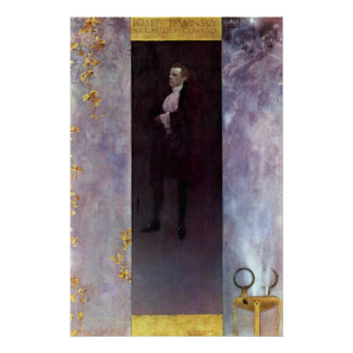 Hofburg actor Josef Lewinsky as Carlos by Klimt Poster