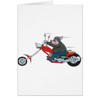 Hog Biker Card