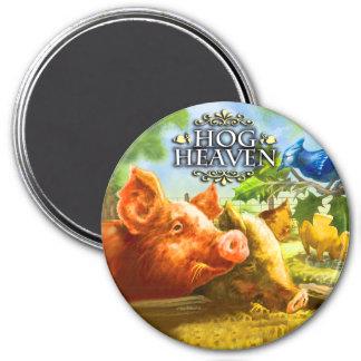 Hog Heaven 7.5 Cm Round Magnet